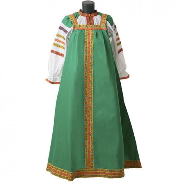 Русский народный сарафан. Рис. 10
