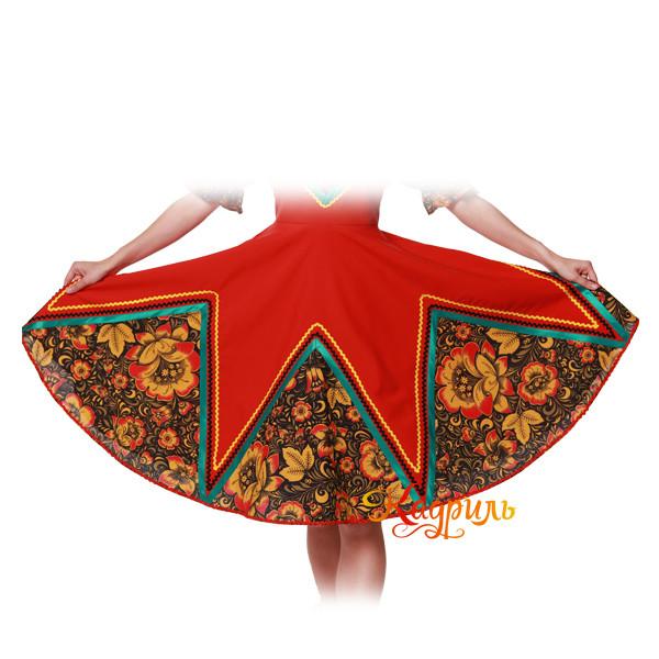 Русское народное платье с цветами. Рис. 5