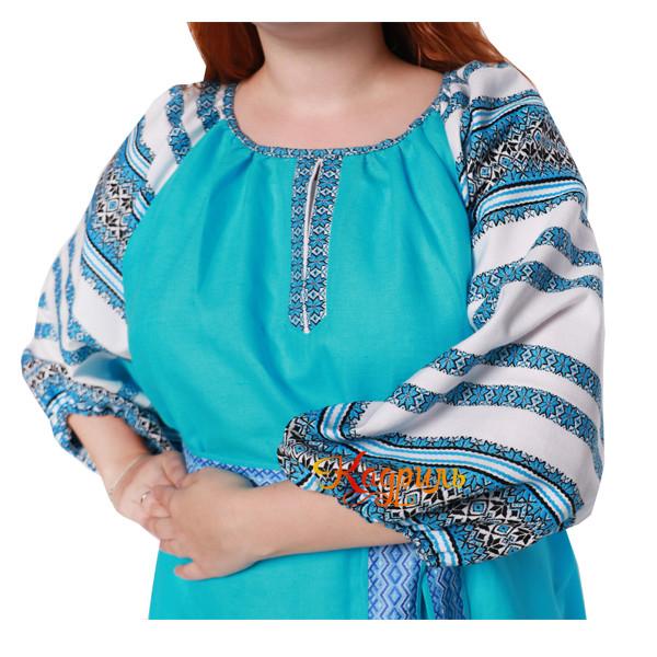 Платье Аделя бирюзовое. Рис. 3