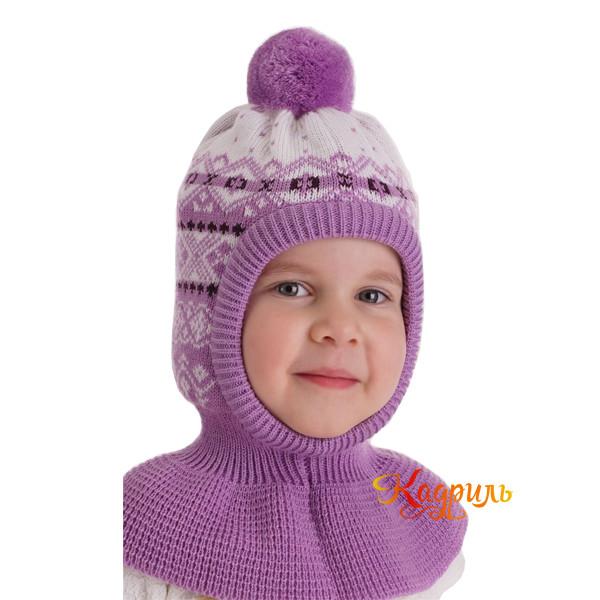 Детская шапка капор утеплённая. Рис. 4