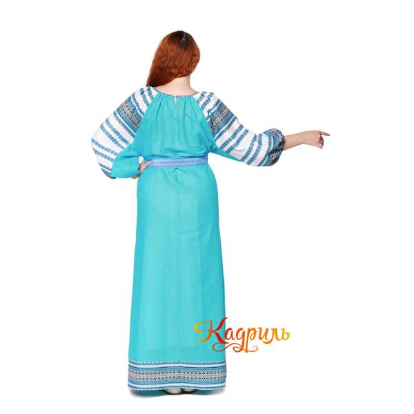 Платье Аделя бирюзовое. Рис. 2