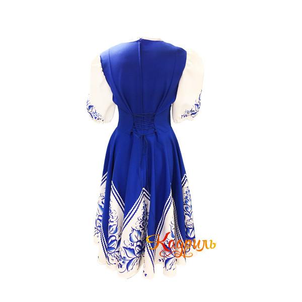 Платье гжель сине-белое. Рис. 2