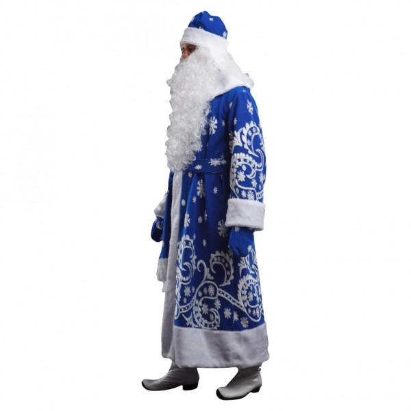 Костюм Деда Мороза синий с мехом. Рис. 2