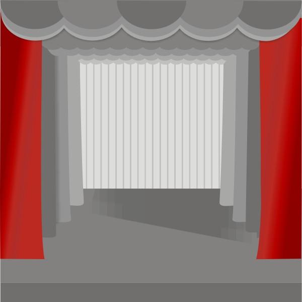 Театральный занавес. Рис. 1