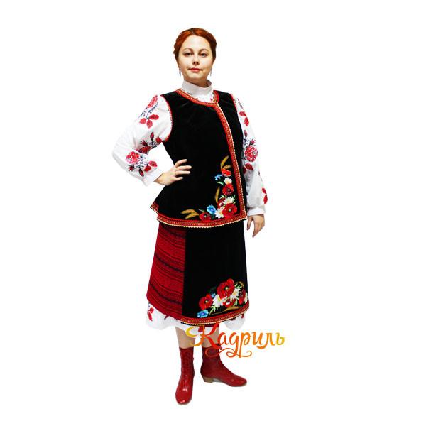Украинский костюм с вышивкой. Рис. 1