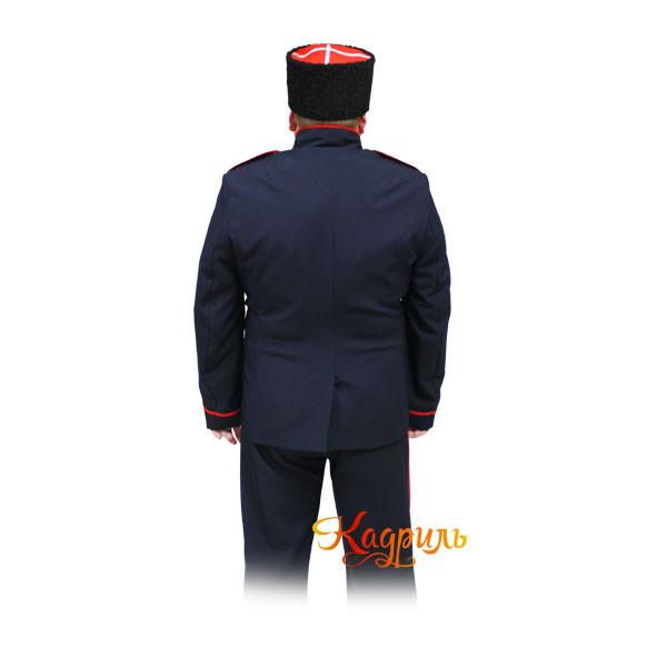Казачий костюм мужской синий. Рис. 2