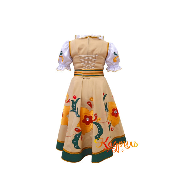 Русский народный костюм золотой. Рис. 2