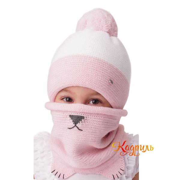 Шапка детская зимняя с помпоном. Рис. 1