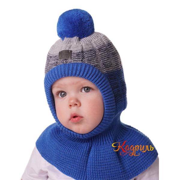 Шапка-шлем зимняя с помпоном. Рис. 2