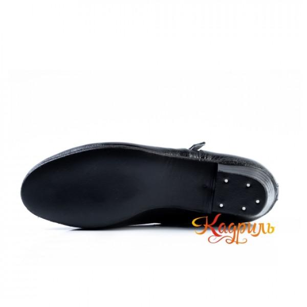 Туфли народные черные. Рис. 3