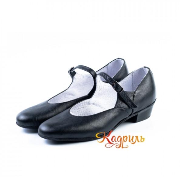 Туфли народные черные. Рис. 2
