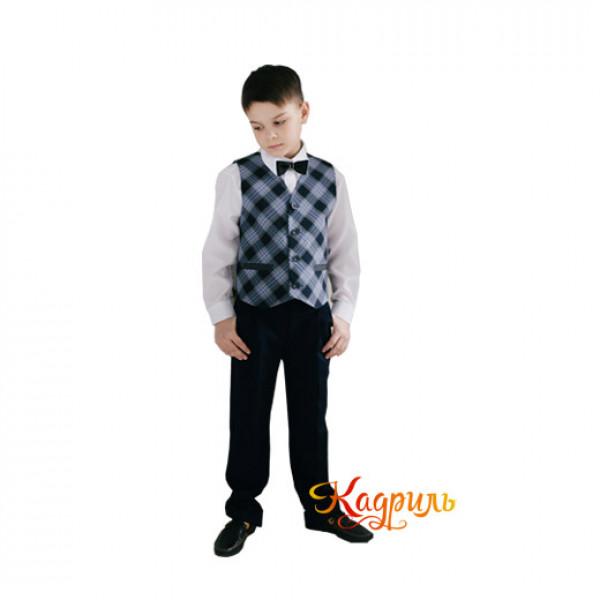 Школьная форма для мальчиков серая. Рис. 1