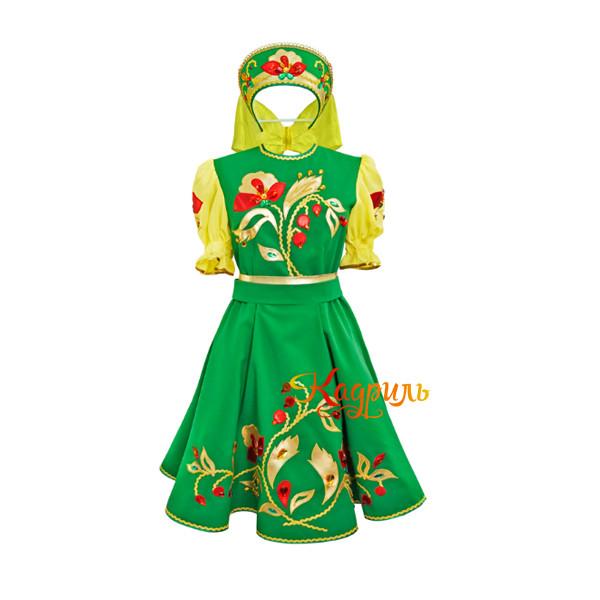 Русское народное платье для танца. Рис. 1