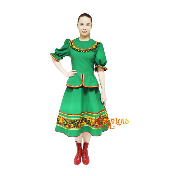 Казачий костюм зеленый. Рис. 2