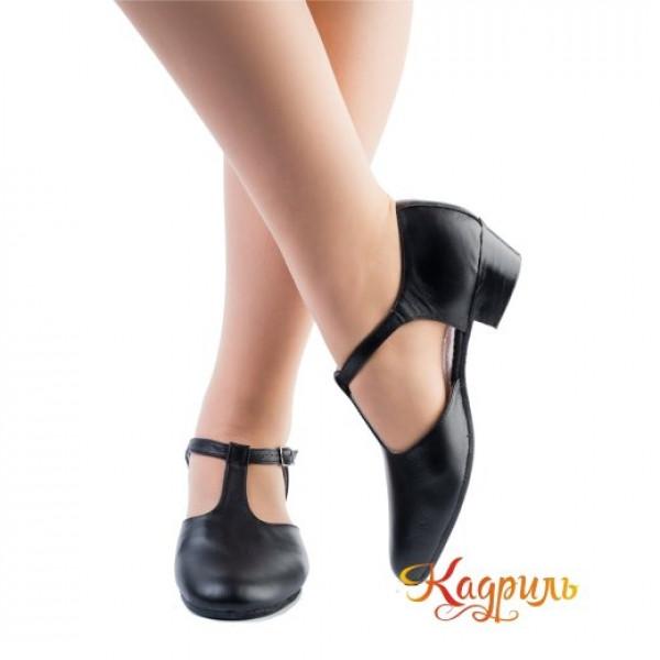 Туфли тренерские черные. Рис. 1