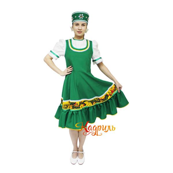 Костюм народный детский зелёный. Рис. 1