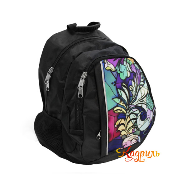Детский черный рюкзак с рисунком. Рис. 2