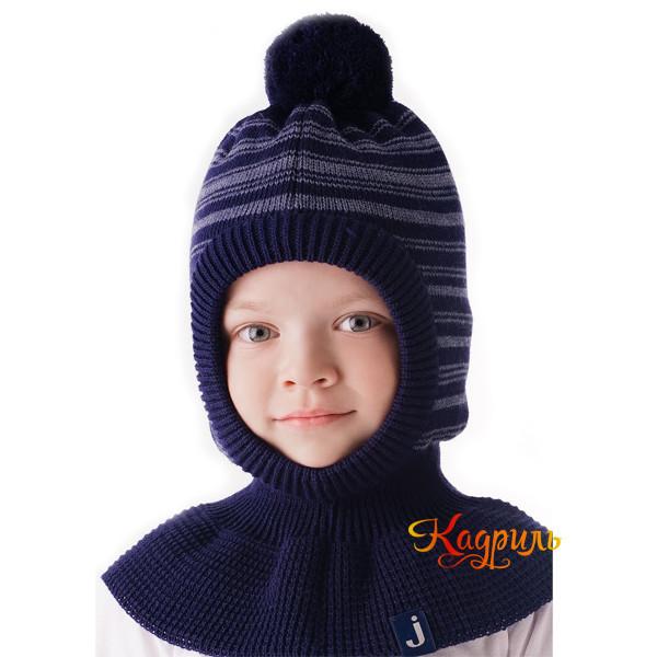 Детская шапка-шлем вязаная. Рис. 3