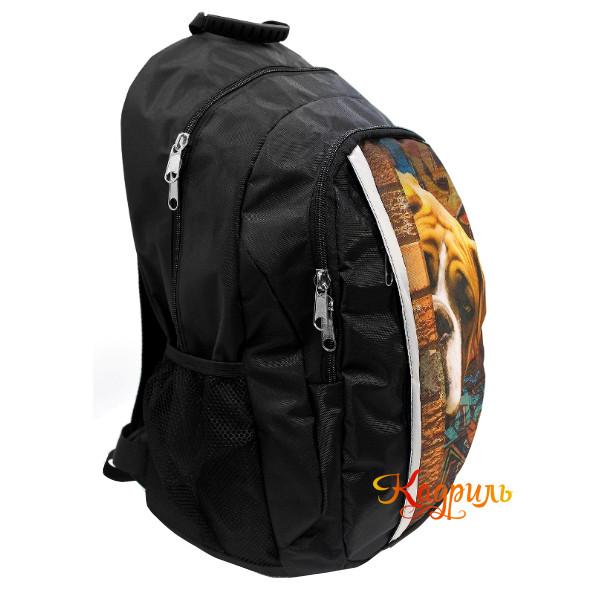 Черный рюкзак с рисунком для мальчиков. Рис. 2