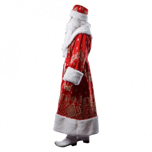 Костюм Деда Мороза красный из тафты. Рис. 2