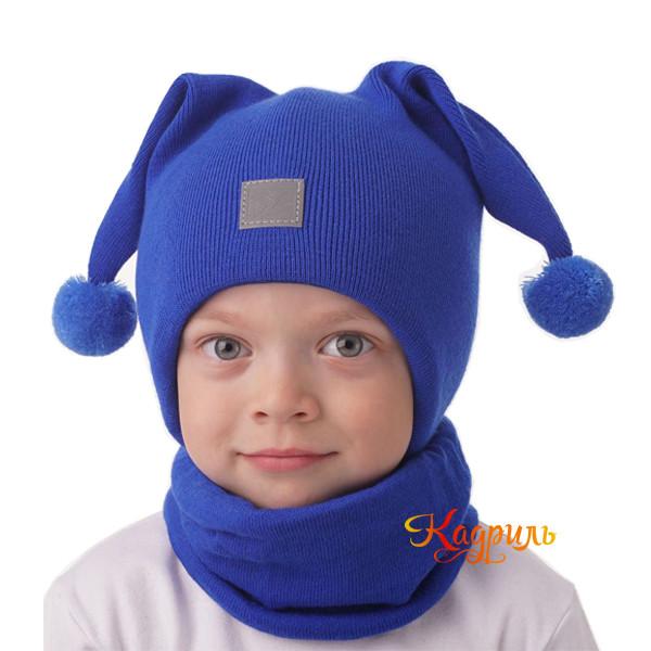 Детская шапка с ушками. Рис. 1