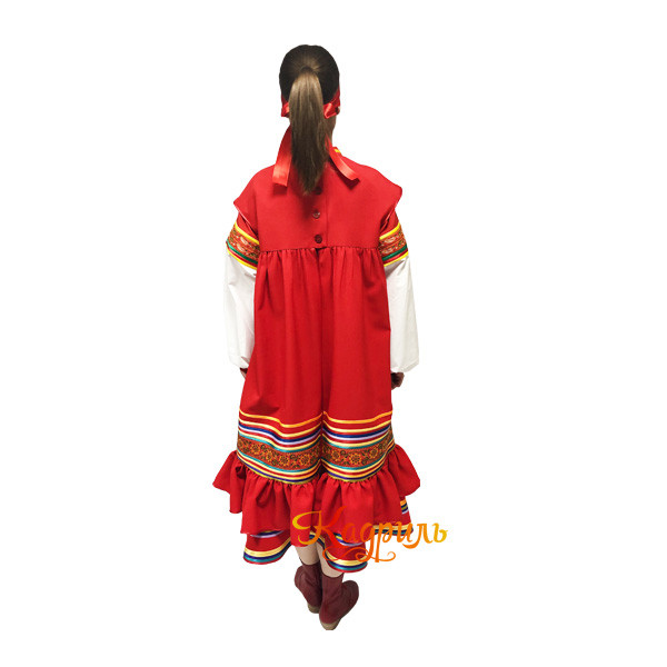 Рязанский стилизованный танцевальный костюм. Рис. 3