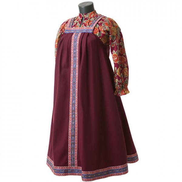Платье в народном стиле. Рис. 1