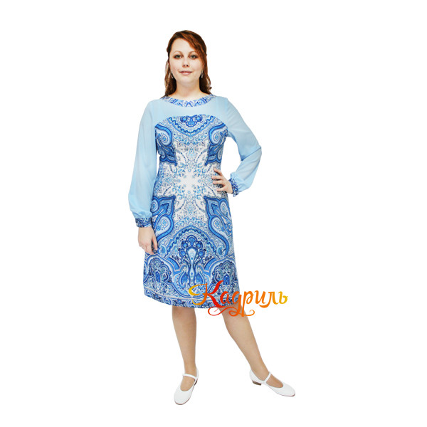 Платье эстрадное из платка. Рис. 1