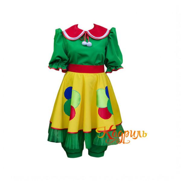 Платье клоуна зелёное. Рис. 1