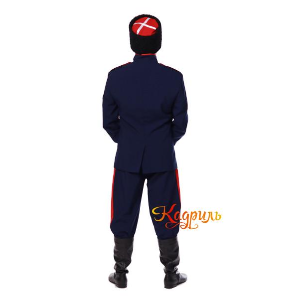 Казачий костюм мужской синий. Рис. 3