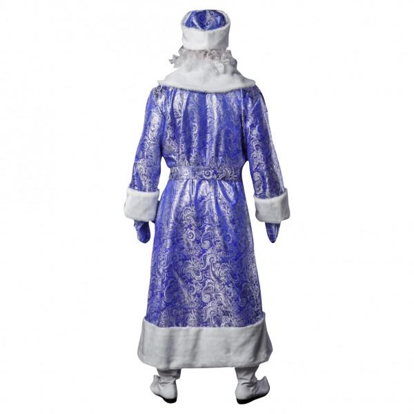 Костюм Деда Мороза синий из парчи. Рис. 3