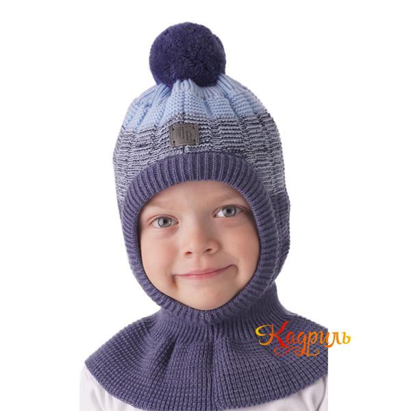 Шапка-шлем зимняя с помпоном. Рис. 3