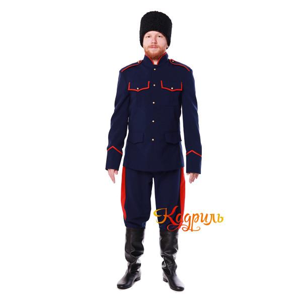 Казачий костюм мужской синий. Рис. 1