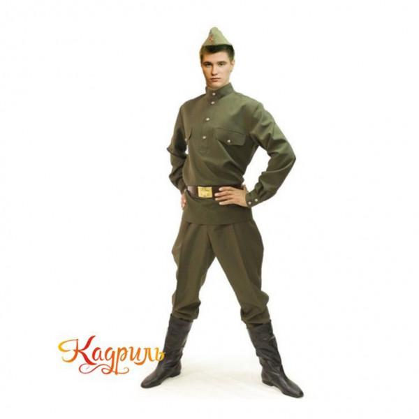 Военный мужской костюм. Рис. 1