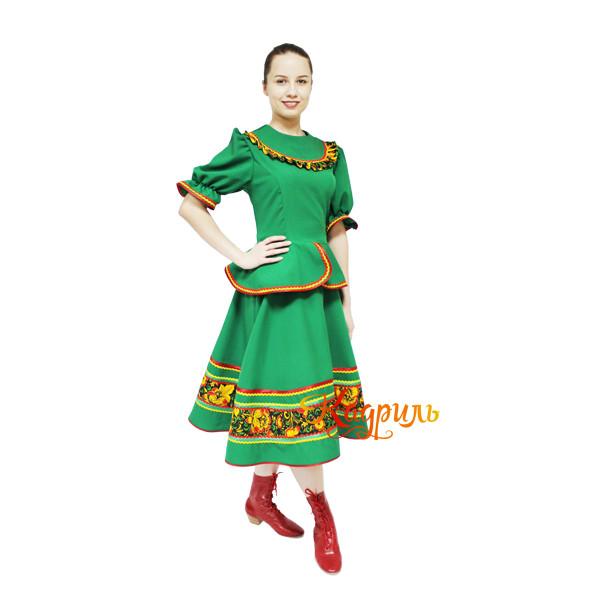 Казачий костюм зеленый. Рис. 1