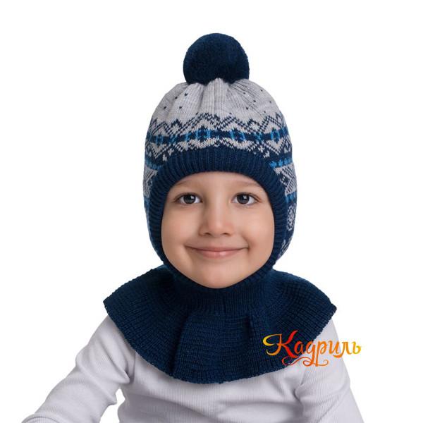Детская шапка капор утеплённая. Рис. 3