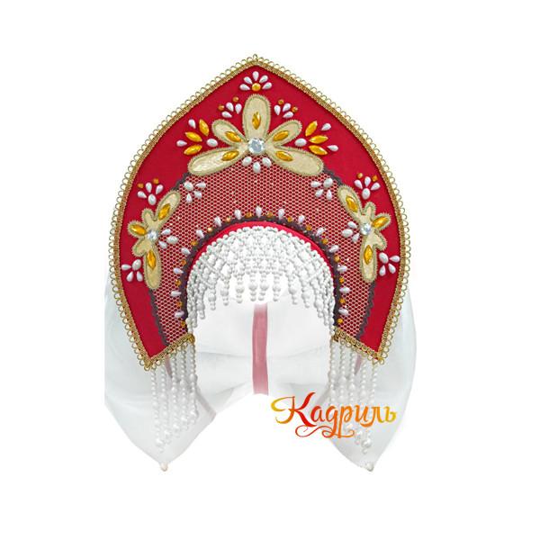 Русское народное платье с белыми рукавами. Рис. 2