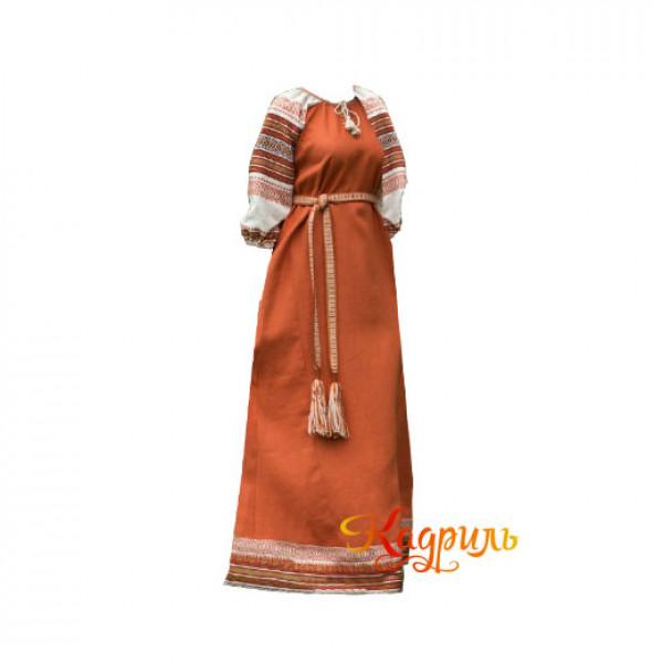 Платье Аделя рыжее. Рис. 1