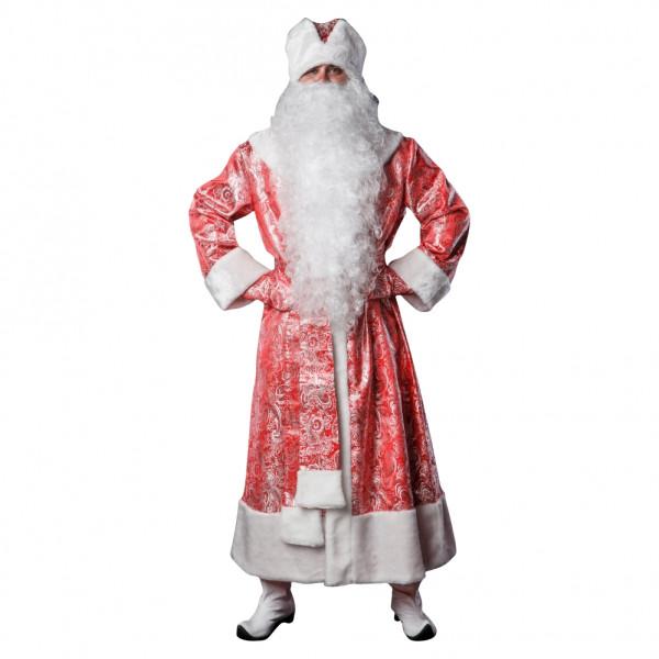 Костюм Деда Мороза красный из парчи. Рис. 1
