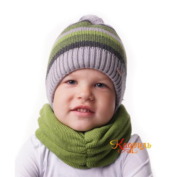 Шапка для мальчика утеплённая в полоску. Рис. 2