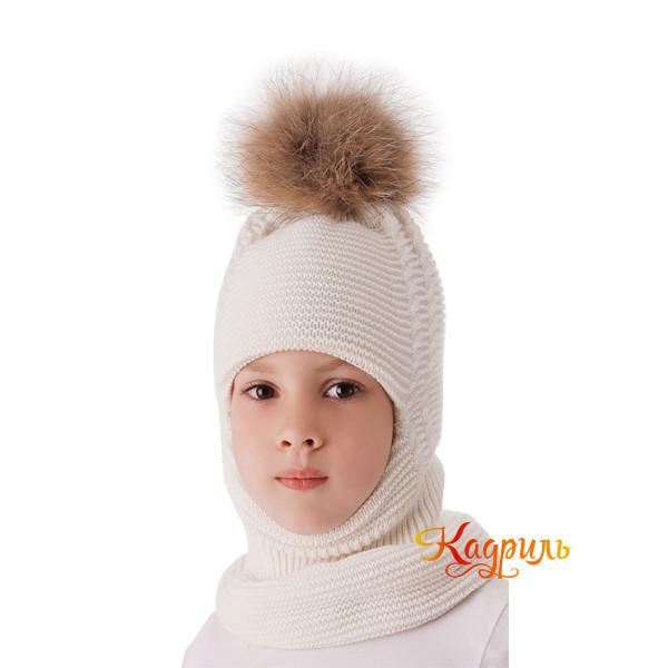 Детская шапка-шлем зимняя. Рис. 1