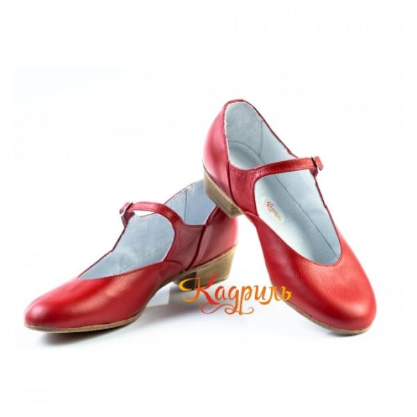 Туфли народные красные. Рис. 2