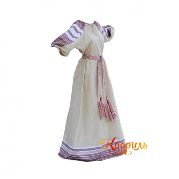 Платье Аделя бежевое. Рис. 1