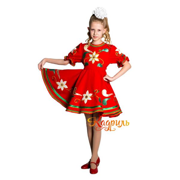 Платье детское с аппликацией. Рис. 1