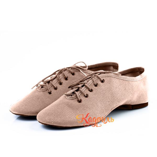 Танцевальная обувь тканевые бежевые. Рис. 1