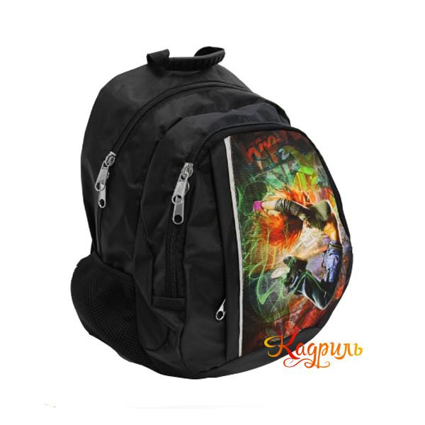 Рюкзак черный с рисунком. Рис. 2