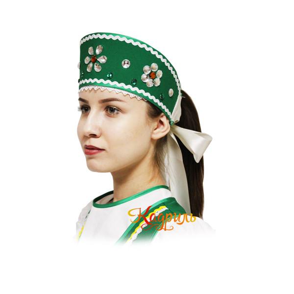 Костюм народный детский зелёный. Рис. 3