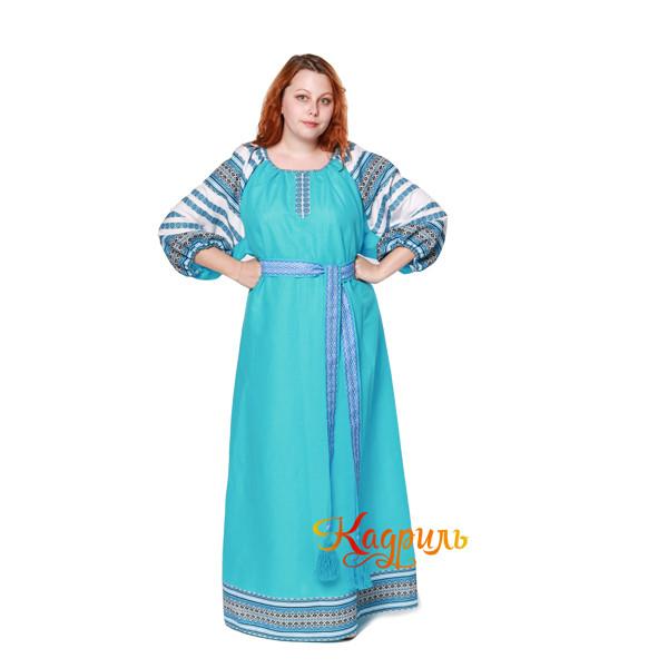 Платье Аделя бирюзовое. Рис. 1