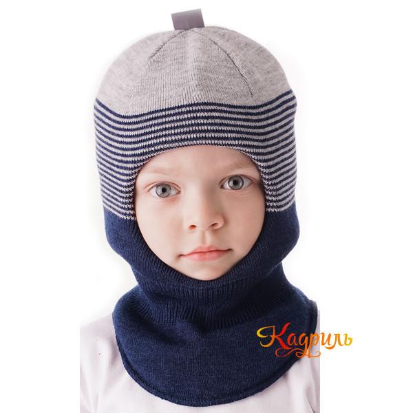 Шапка-шлем для мальчика зимняя. Рис. 4