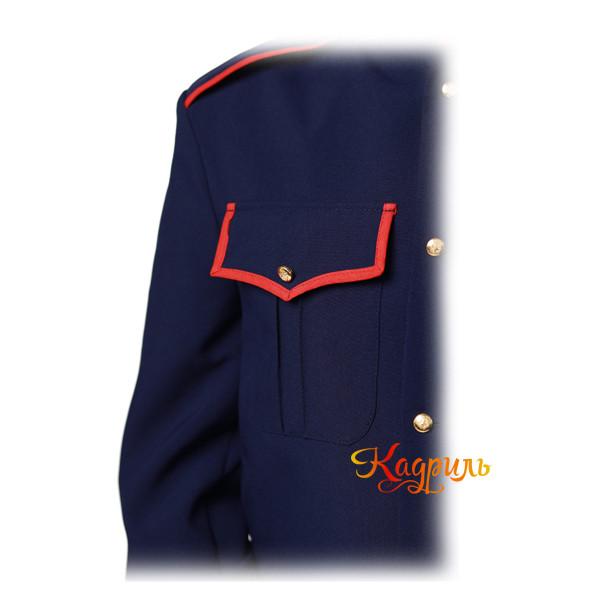 Казачий костюм мужской синий. Рис. 4